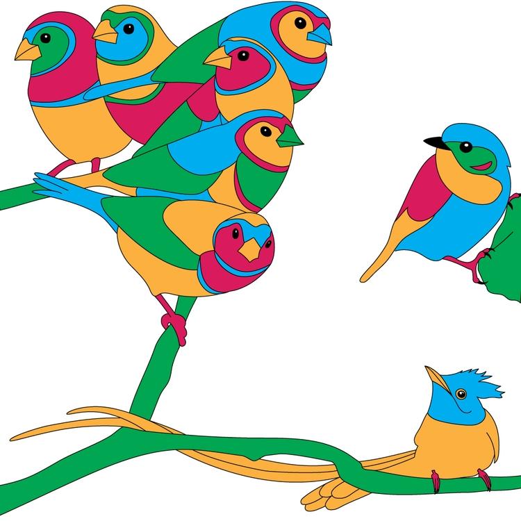 Birds - bird, birds, digital, drawing - goker | ello