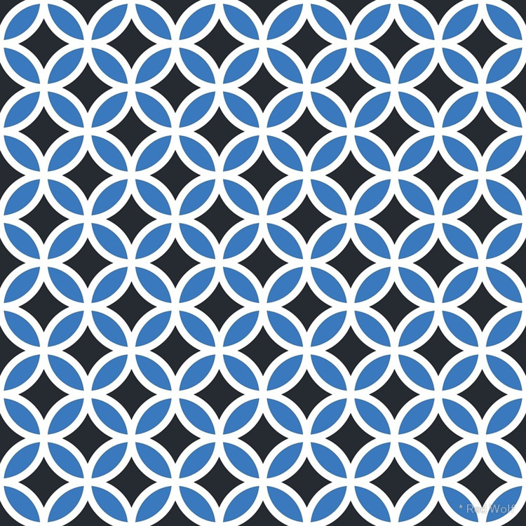 Geometric Pattern: Circle: Blue - red_wolf | ello