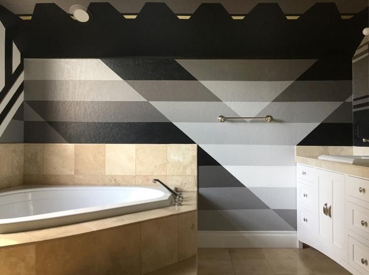 Master Bath mural - 2017 - xavi | ello