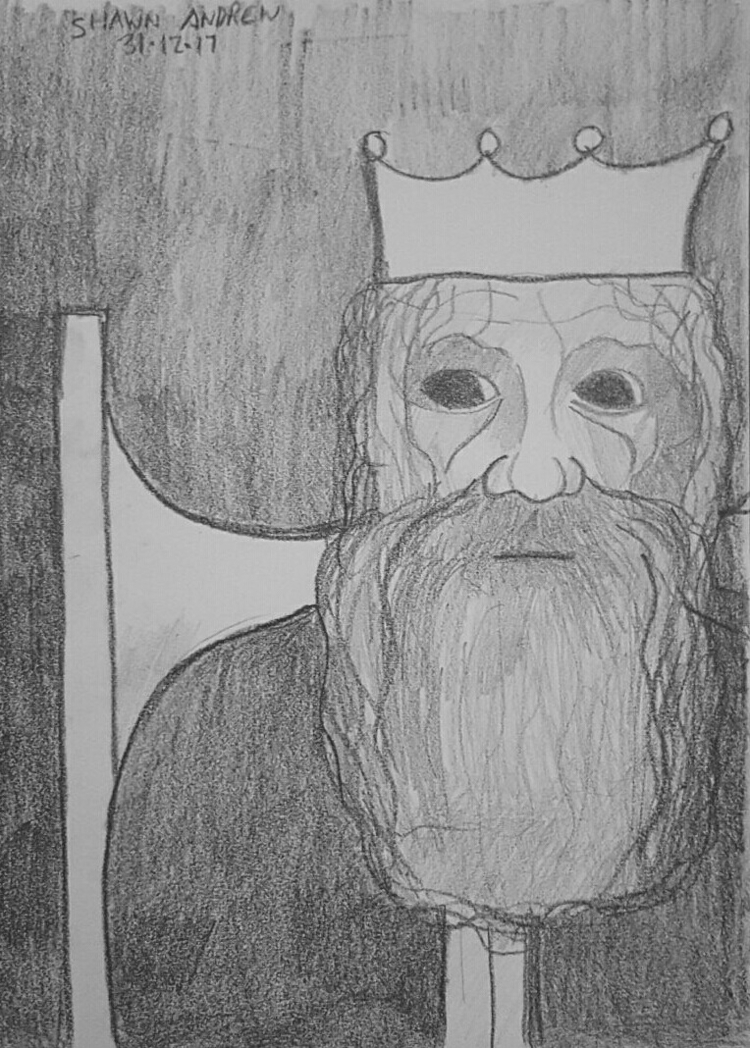 Broken king - Lumocolor pencil  - shawnartist | ello