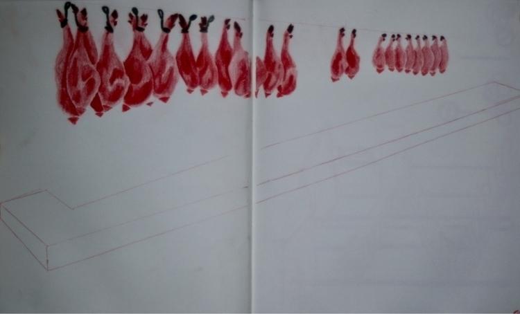 Hanging meat Pamplona Spain - boydboyd | ello
