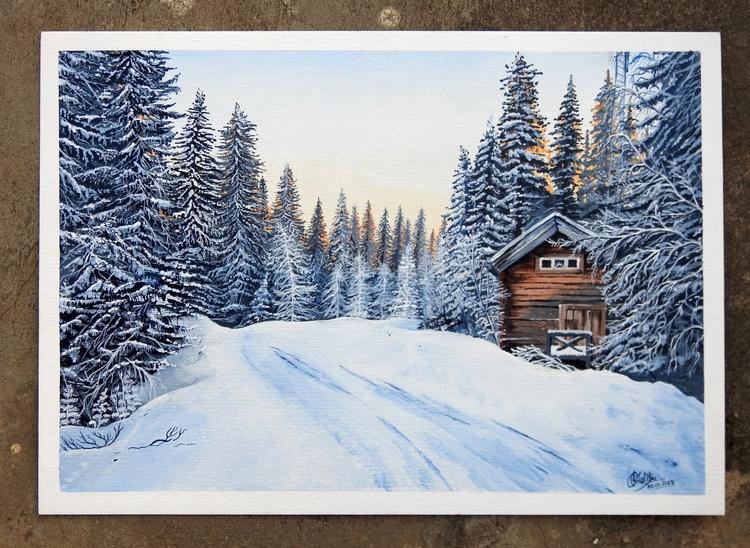 Winter - Acrylic, Painting, Art - rakeshmalik91   ello