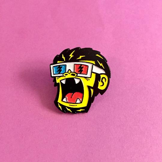 3D Monkee Pin! pin Etsy store.  - mariojacome | ello
