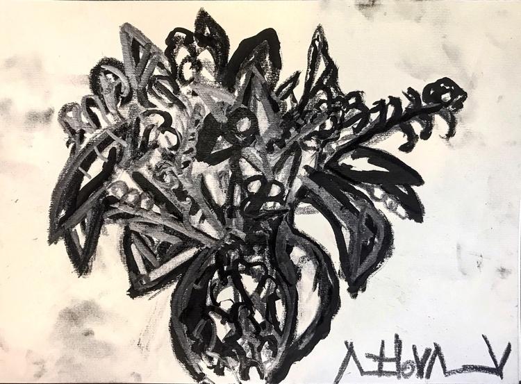 bouquet flowers jug sketch - art - rostislavromanov | ello