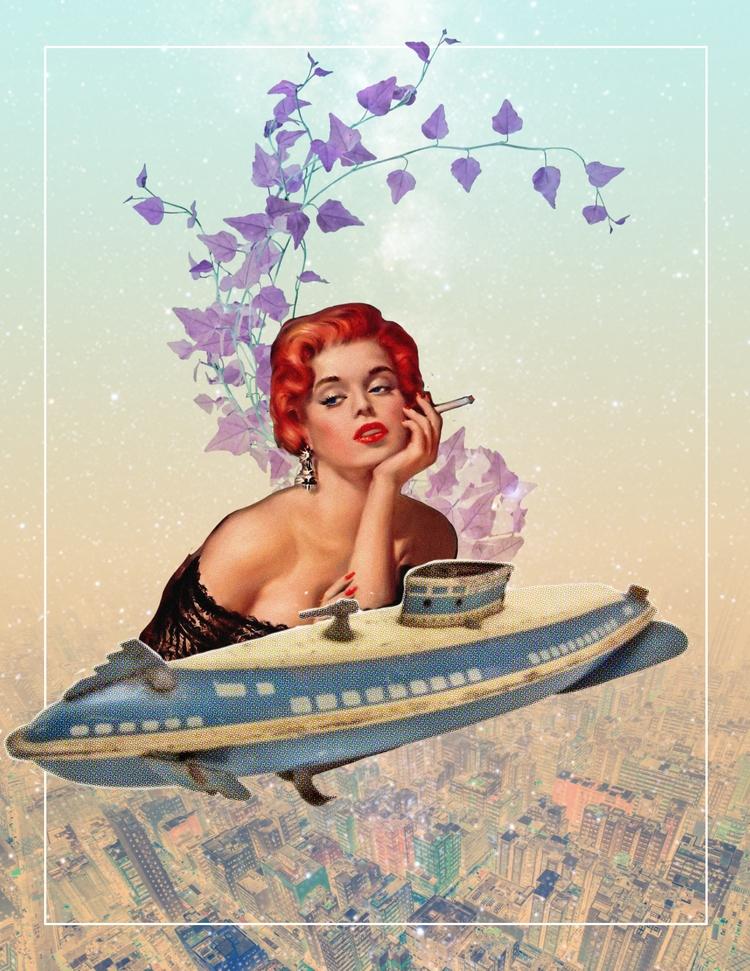 Submarine Dreams - collage poem - cnoondubya | ello