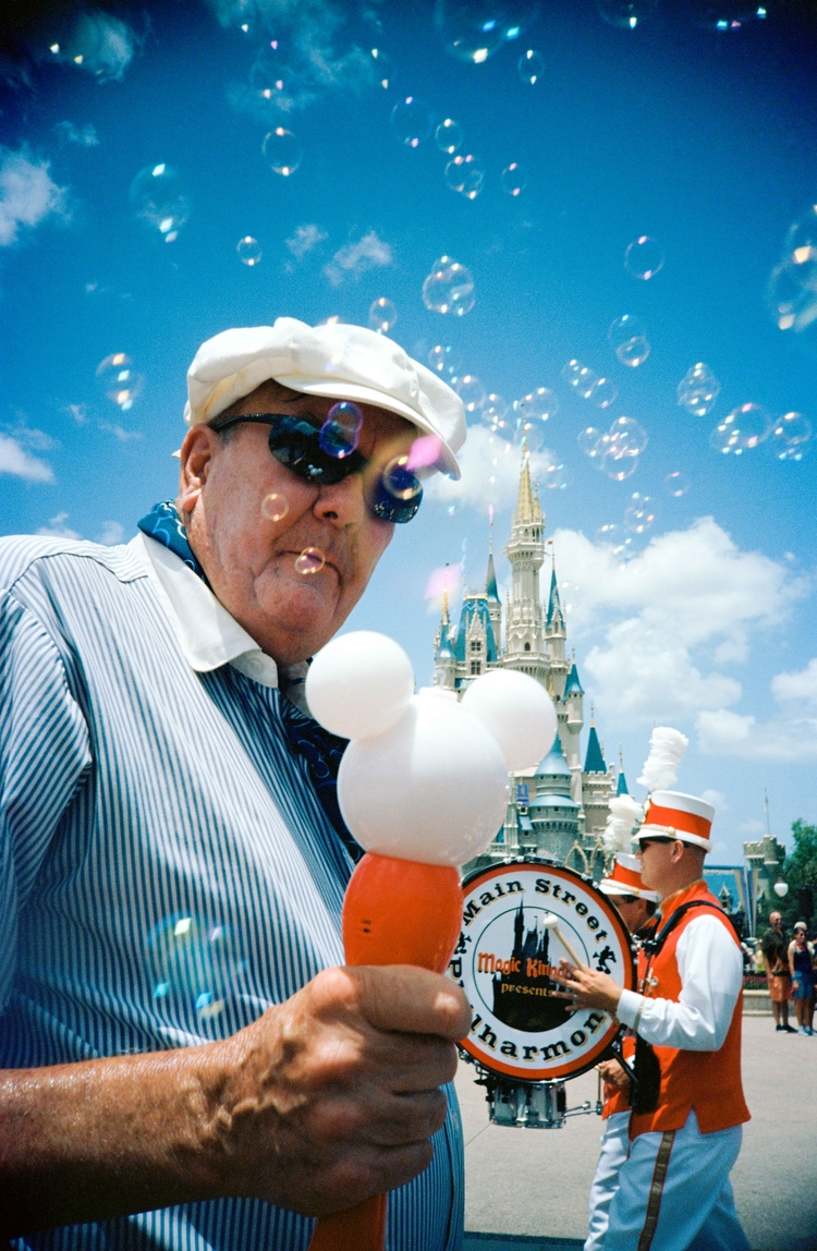 bubble man Magic Kingdom Walt D - benkrueger | ello