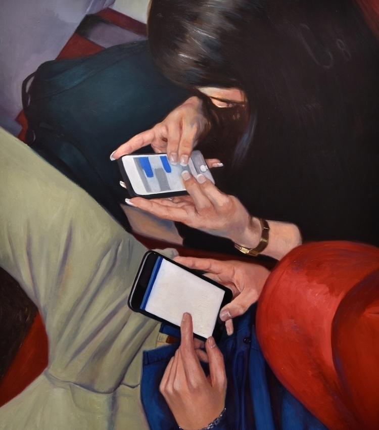 realism, cellphones, contemporarypainting - mariajimenez | ello