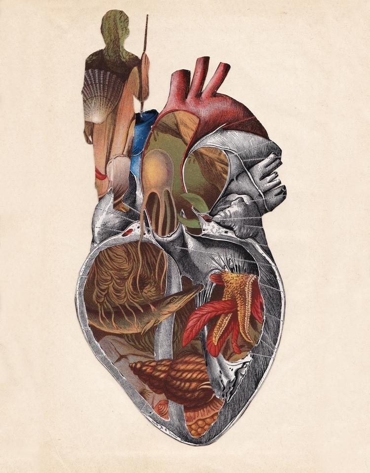 Submission MEURAL: Art Love Hea - papiergedanken-collage-art | ello