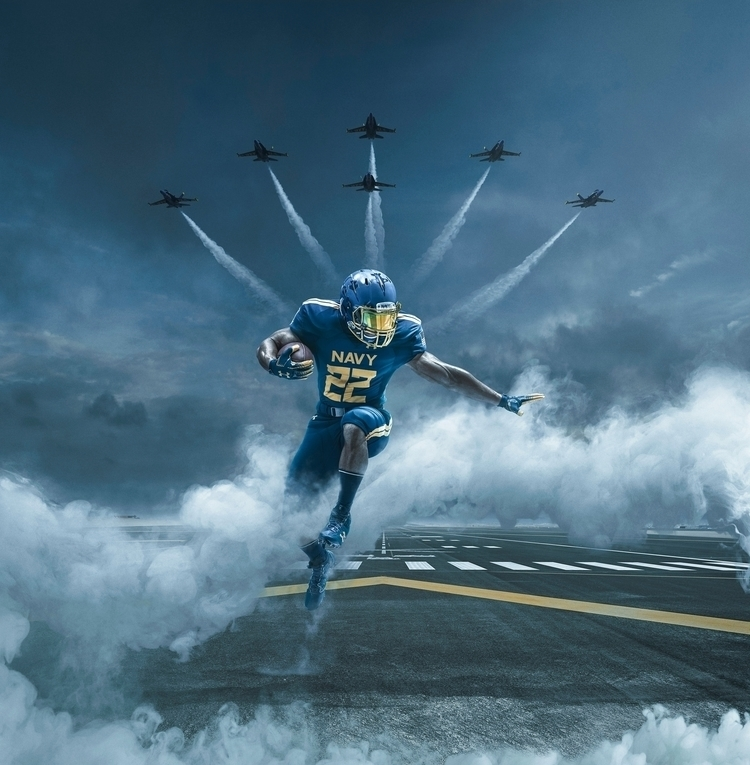 ARMOUR Navy Football Uniform An - mikecampau | ello