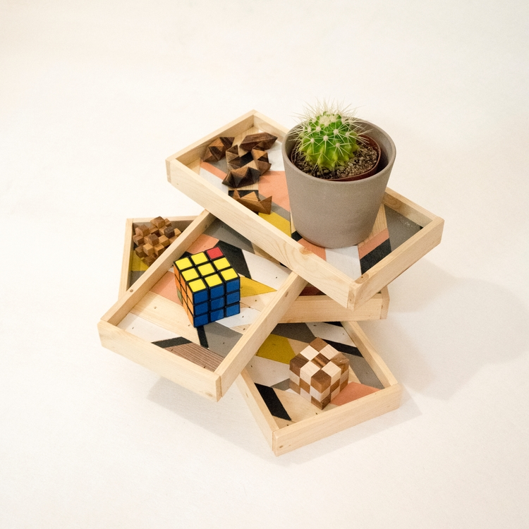 Wood trays/Wall decor recycled  - trolar | ello