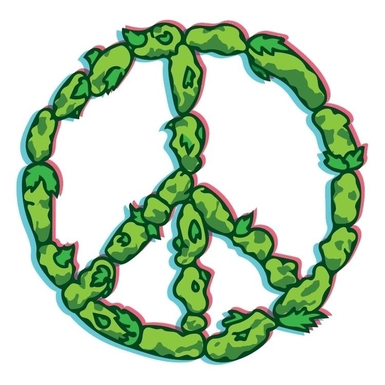 Peace Love Weed - doodle, weed, pot - turbeau | ello