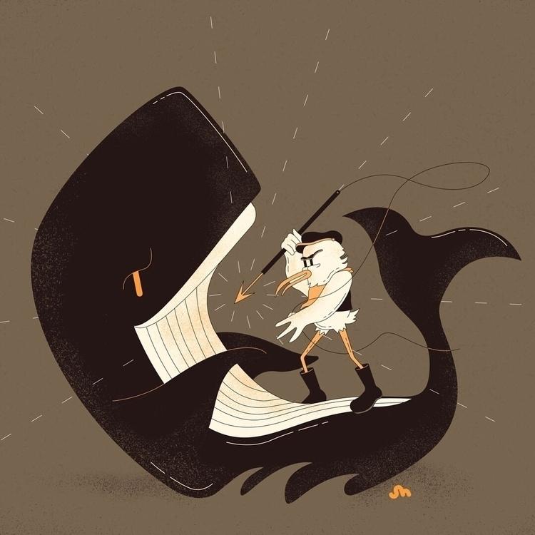 Aim big fishes - illustration, whale - jessienewhouse | ello