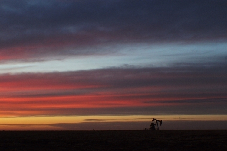 Pump jack sunset, west Texas - introleftedness | ello