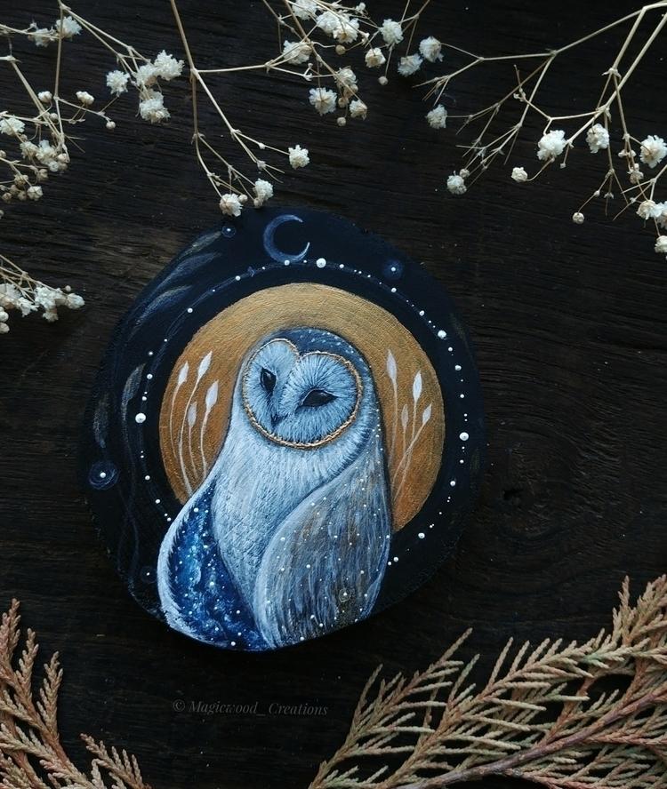 wandering owl - owllovers, owls - magicwood_creations | ello