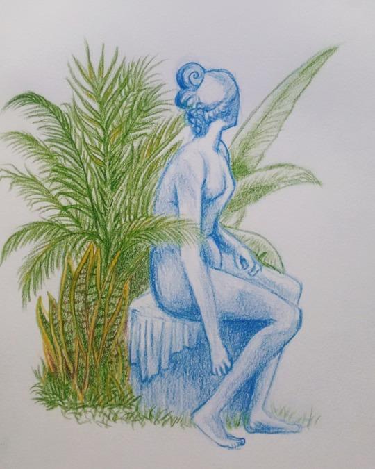 Waiting Traditional drawing. Pe - iagonobre   ello