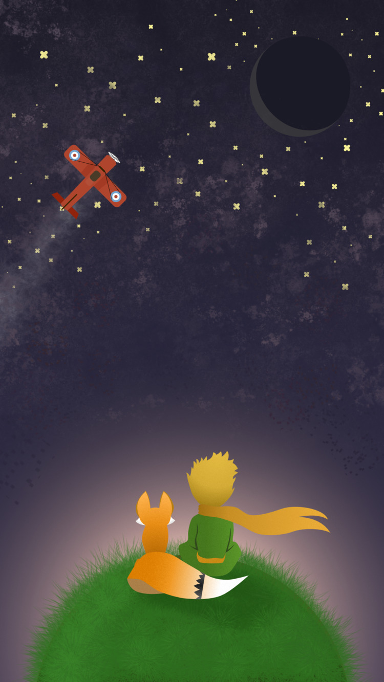 Le Petit Prince Fox, phone wall - manzovince | ello