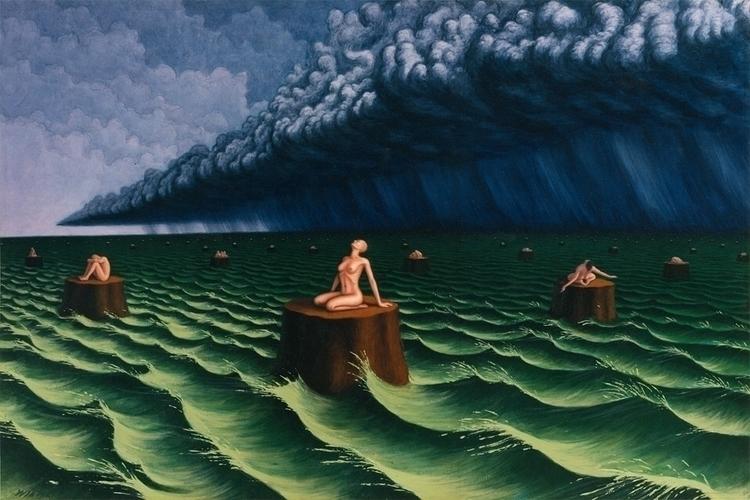 "Storm"" (1993, acrylic paper, 36 - jeffreywiener | ello"