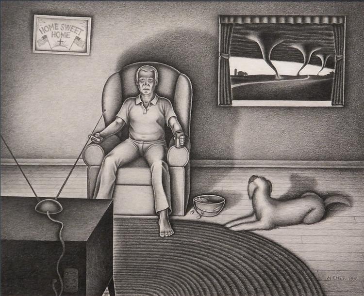 "(1988, pencil paper, 8""x10 - drawing - jeffreywiener | ello"