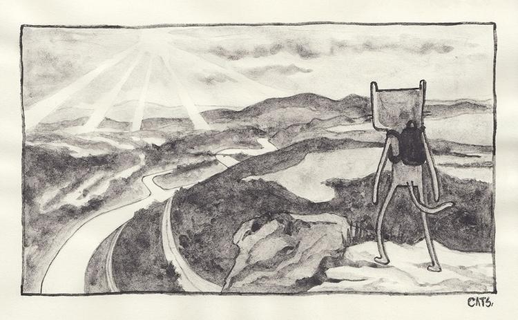 Perspective Sunday sketch | 07  - catsac | ello