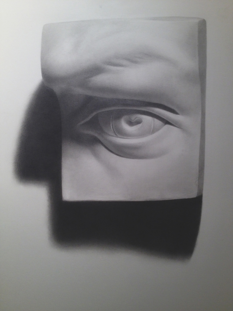 Cast Drawing Eye graphite paper - laurencaldarola | ello
