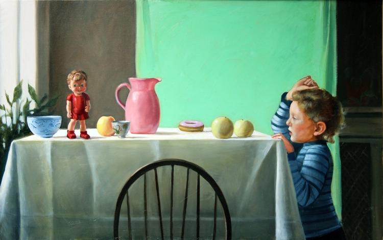 Table, 28x44, oil canvas - nancybea | ello