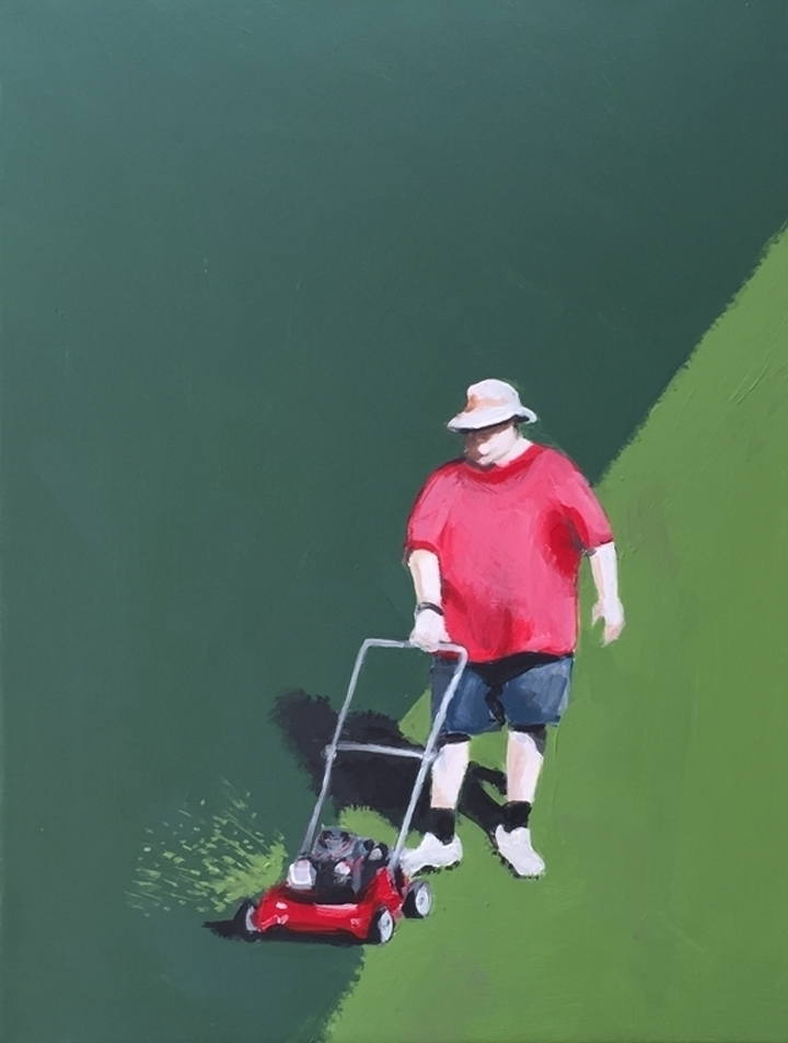Big Mower 16X12 acrylic canvas  - jeffbessart | ello