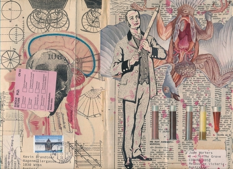 left side Frank Voigts/GER star - papiergedanken-collage-art | ello