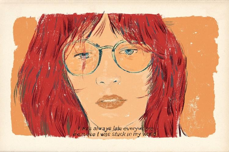 late girl - illustration, drawing - zoe_vadim | ello