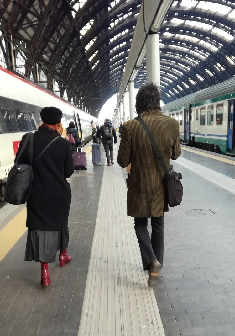 70s - railwaystation, redboots, corduroy - robertmclake | ello