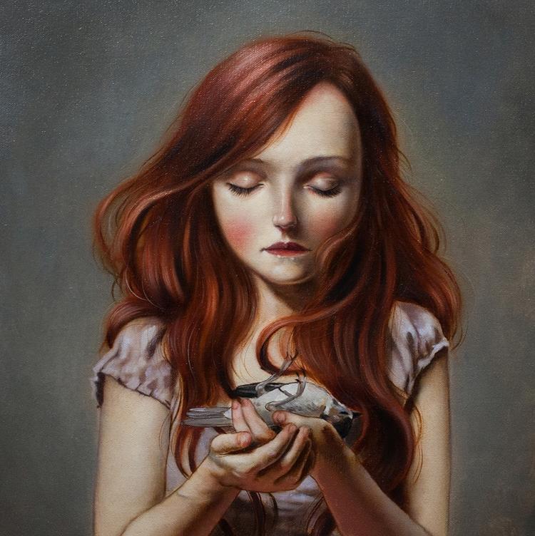 oil linen canvas, 30x30cm (11.8 - ania_tomicka | ello