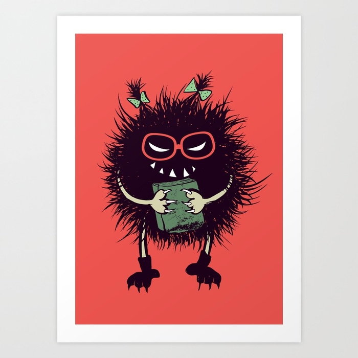 Geeky evil bug - illustration, character - borianag | ello
