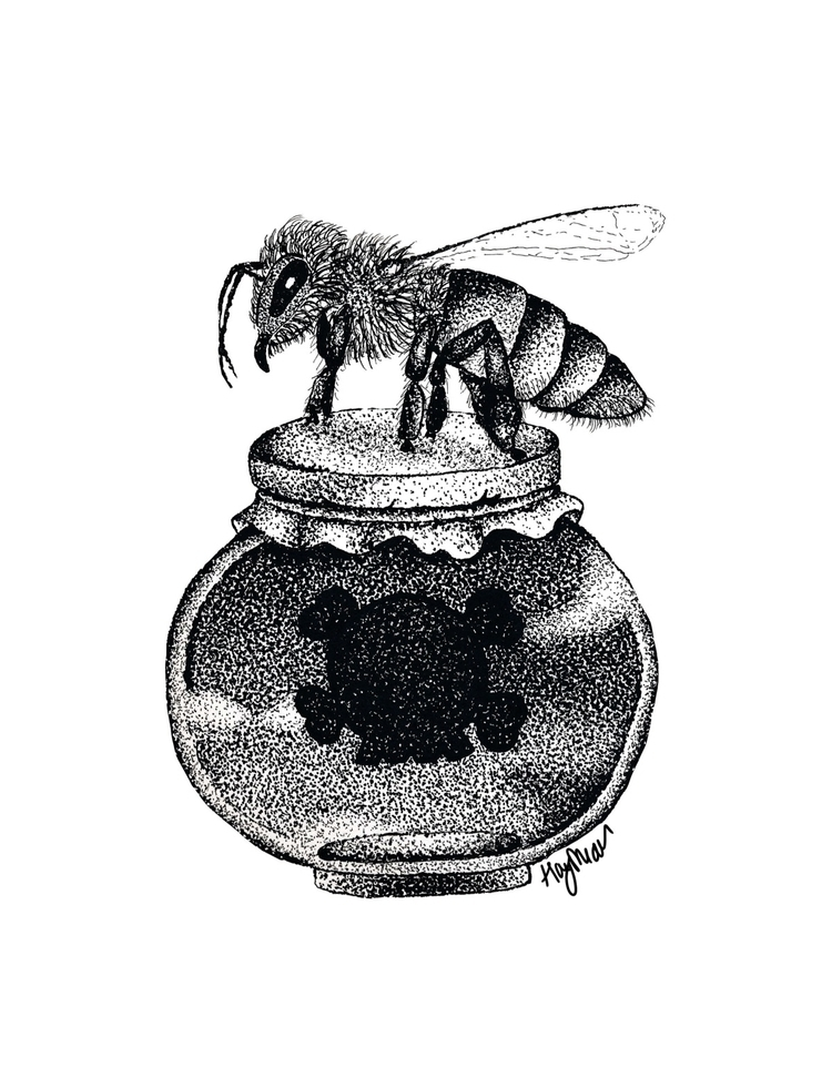 bee, poison, stippling, honey - scapeqoat | ello