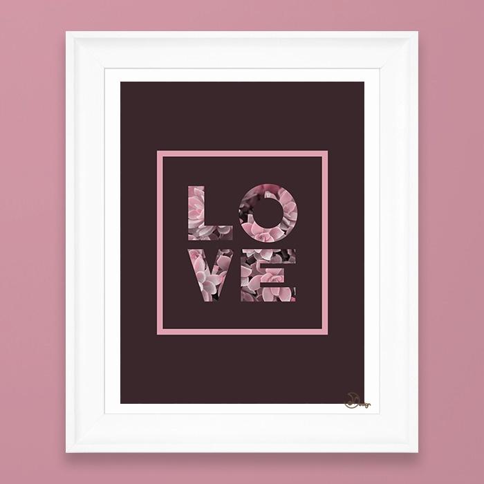 Succulent LOVE Minimal quote lo - designdn | ello