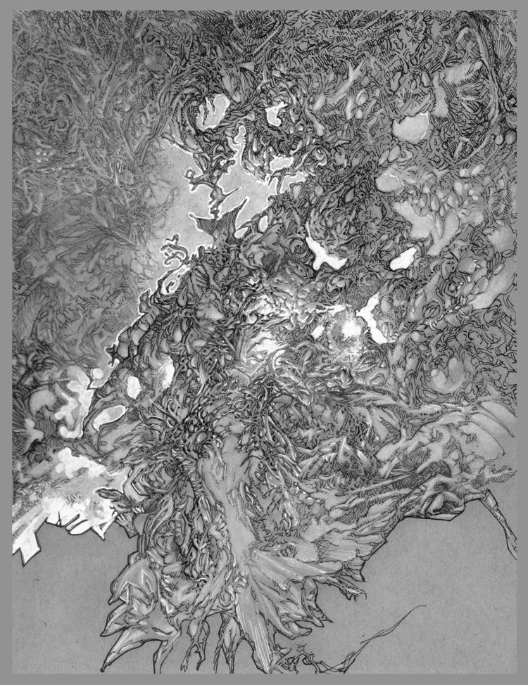 Doodle 2017 12x 9 toned paper,  - gkellyz | ello