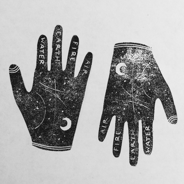 palmistry, illustration, illustrator - studiomalu | ello