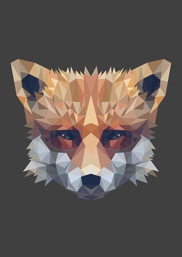 poly fox illustration. Part ser - zombiku | ello