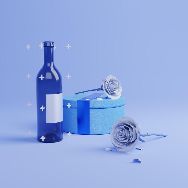 Blue set - 3d, render - kohlewrrk | ello