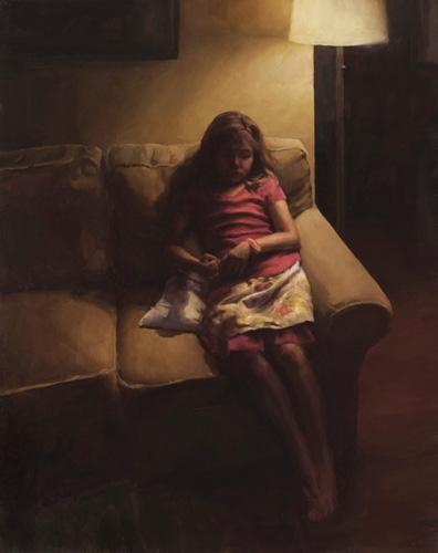 Waiting, Oil Canvas, 30x24 - stephaniedesh | ello