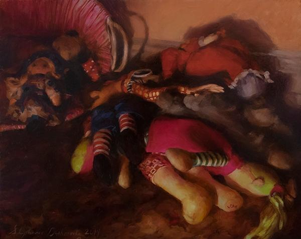 Dolls, Oil Panel, 16x20 - stephaniedesh | ello