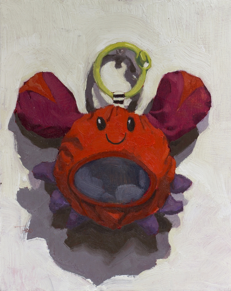 Crabs Oil Panel 8x10 - thadtaylorart | ello