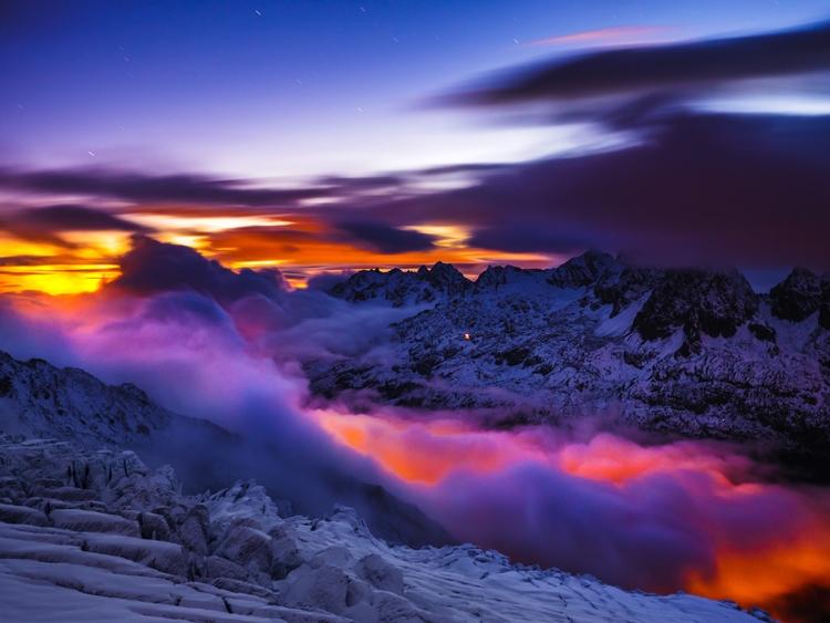 long exposure mountain clouds c - raphaelfyi | ello