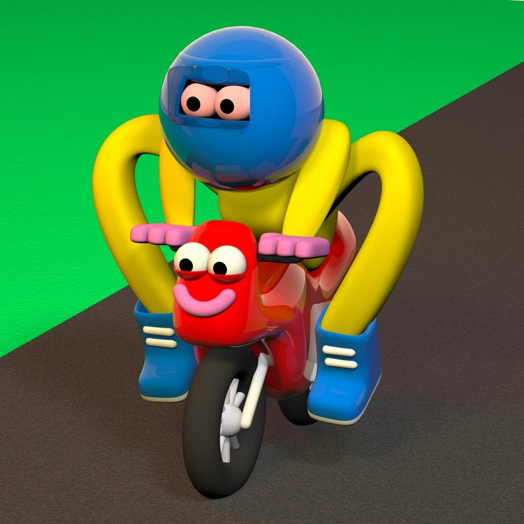 Pocket Bike Racer - 3D, Cinema4D - ben_boothman | ello