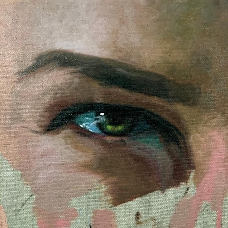 4 paintings work bored move fre - nadinerobbinsart | ello