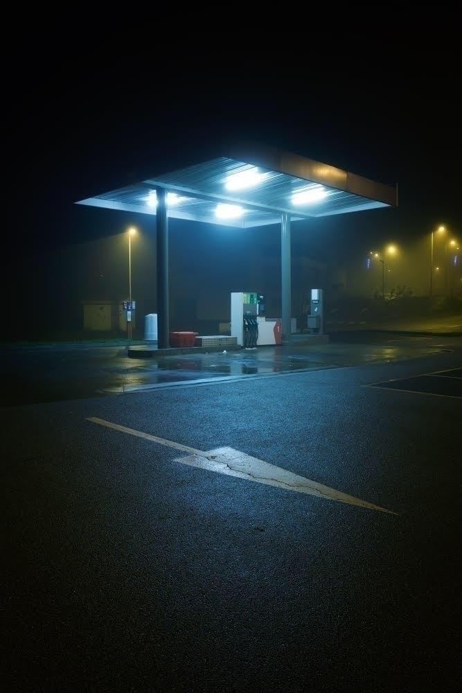 fog, atmosphere, foggy, oilstation - kevinprst | ello