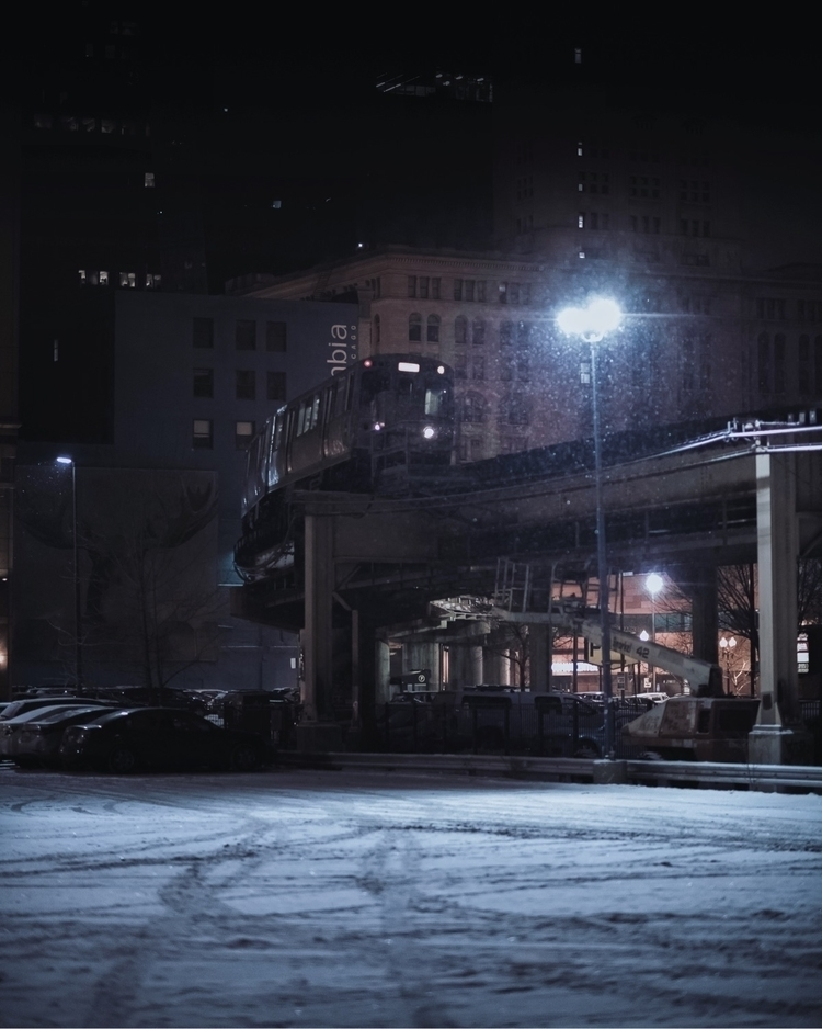 Train night  - chicago, photography - craftonandrew | ello