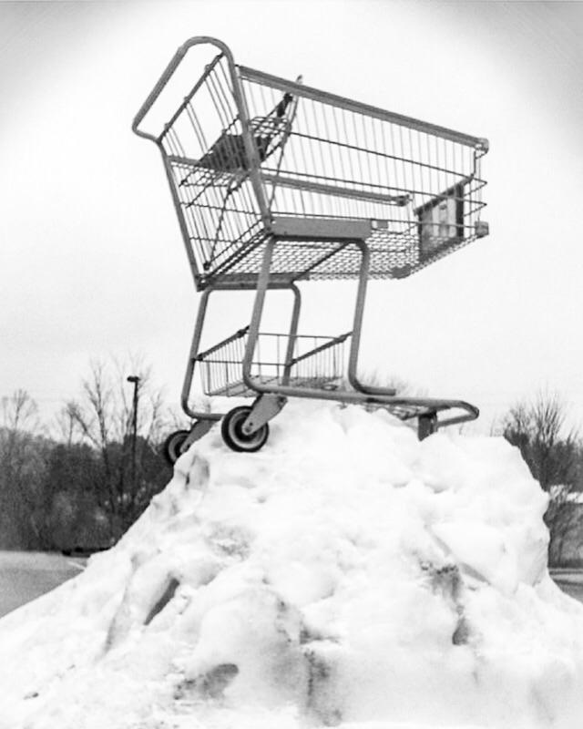 shoppingcart, snow - stevenmcbride   ello