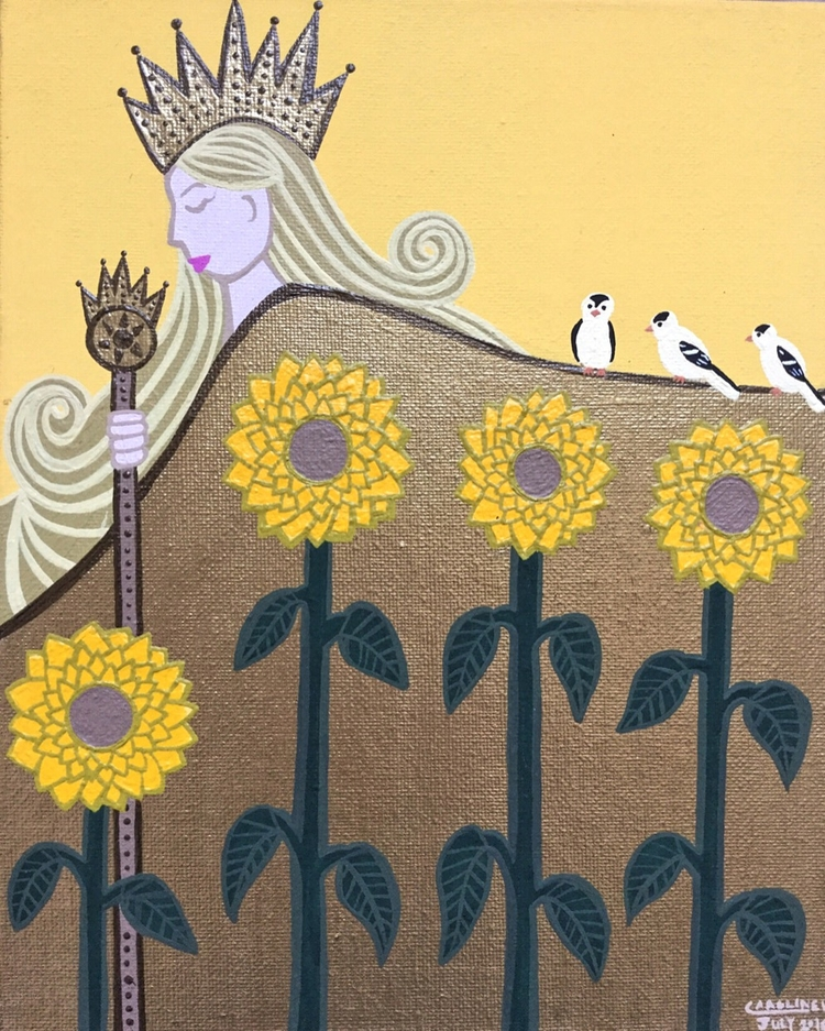 Summer goddess | series seasons - carolinewillustration | ello