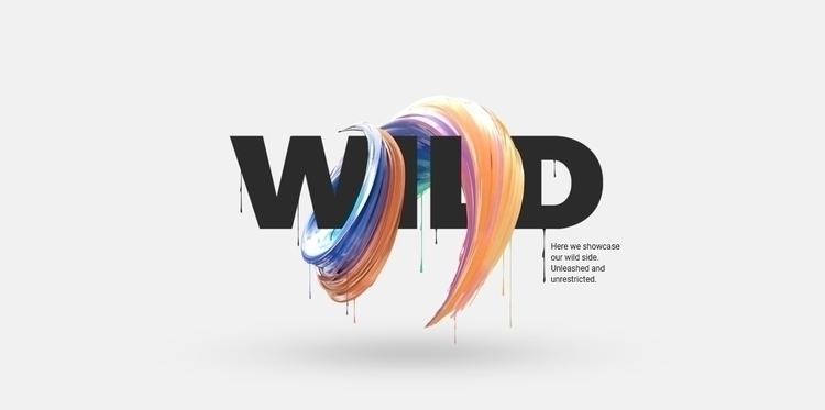 poster combines digital 2d, 3d  - raglet | ello