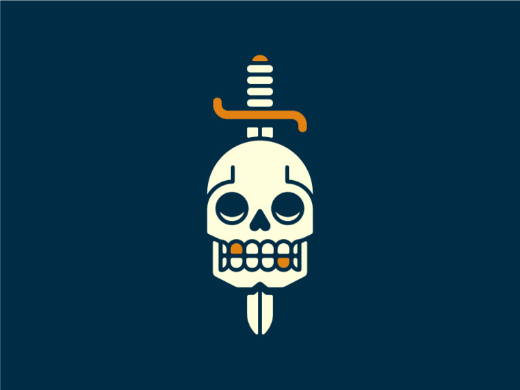 warm illustration day.  - skull - ryanprudhomme | ello