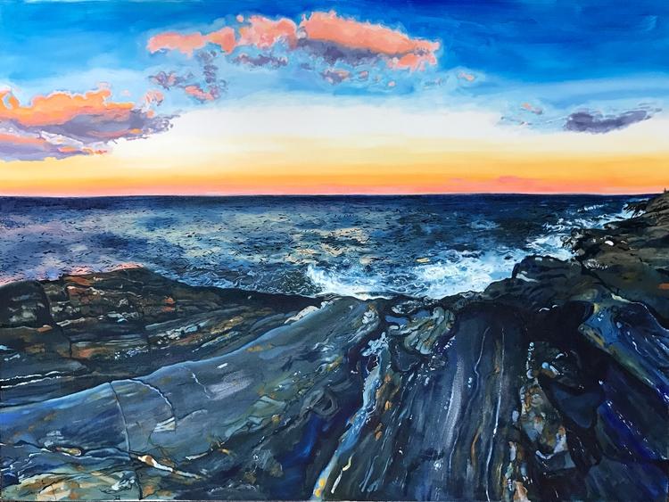 Maine, oil canvas, 4' 5' Wild W - alexissonesart | ello